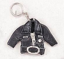 Black Biker Jacket Keychain
