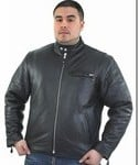 DMJ706<br>Mens Scooter Jkt, cowhide Leather
