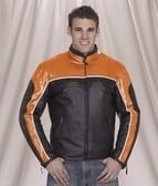 DMJ780-ORANGE<br>Mens racer jacket