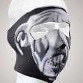 FM13<br>White Bulldog Face mask with velcro strap on back