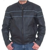 DMJ790-01<br>Men's  Cowhide Racer Jackets